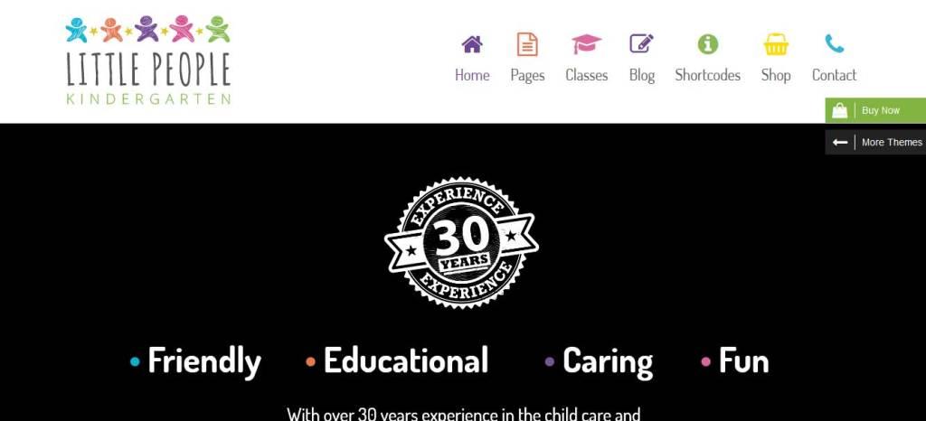 Little People: thèmes wordpress premiums pour site d'éducation