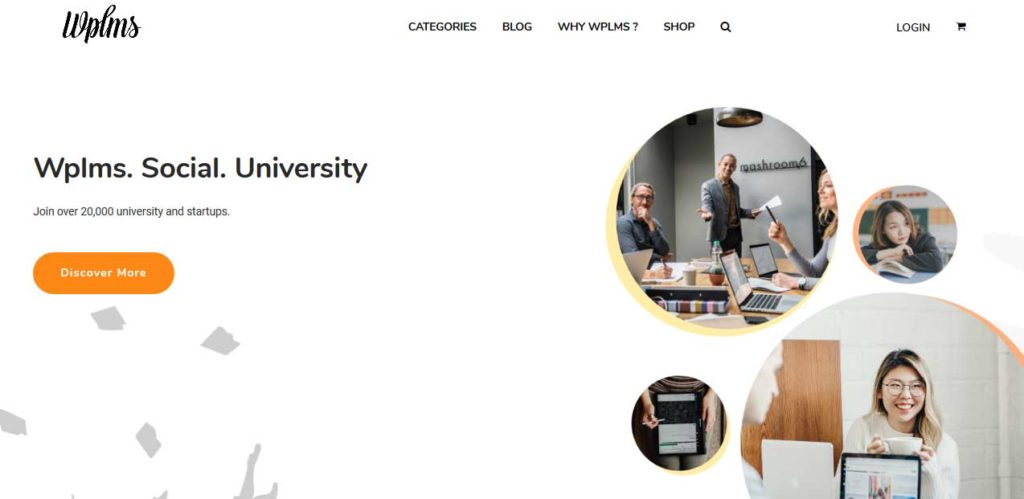 WPLMS: thèmes wordpress premiums pour site d'éducation