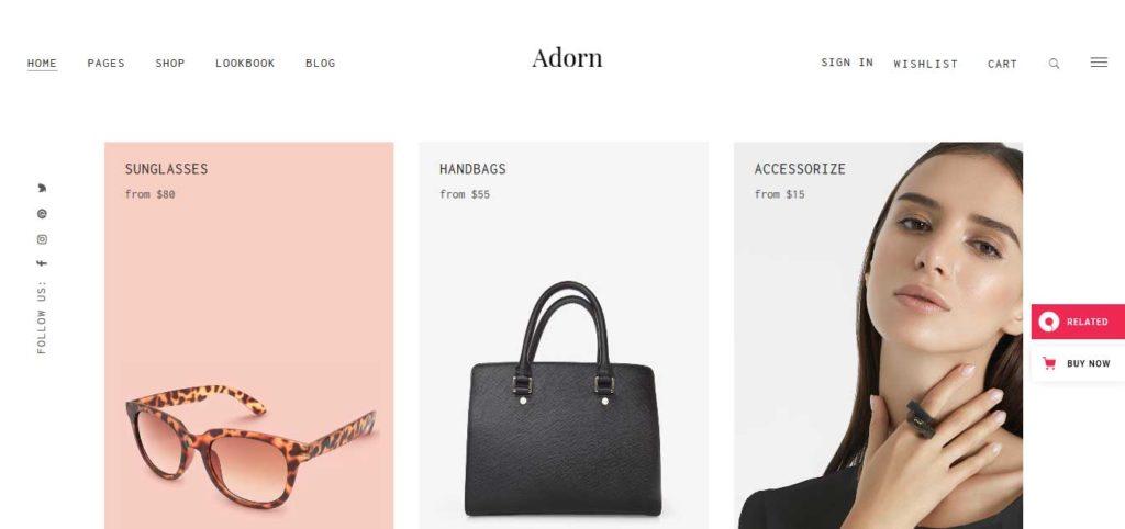 adorn: thèmes WooCommerce pour boutique en ligne