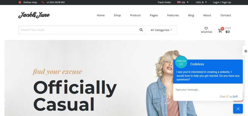 June: thèmes WooCommerce pour boutique en ligne
