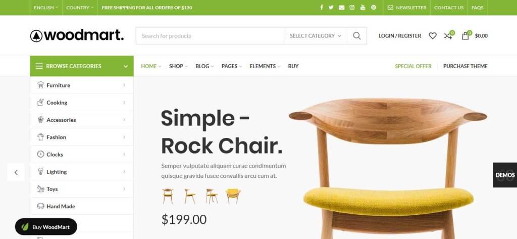 woodmart: thèmes WooCommerce pour boutique en lignethème