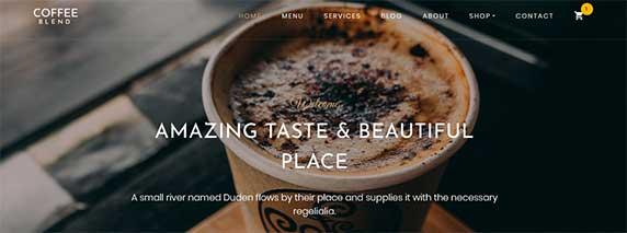 coffee-blend : thème responsive gratuit pour site de restaurant