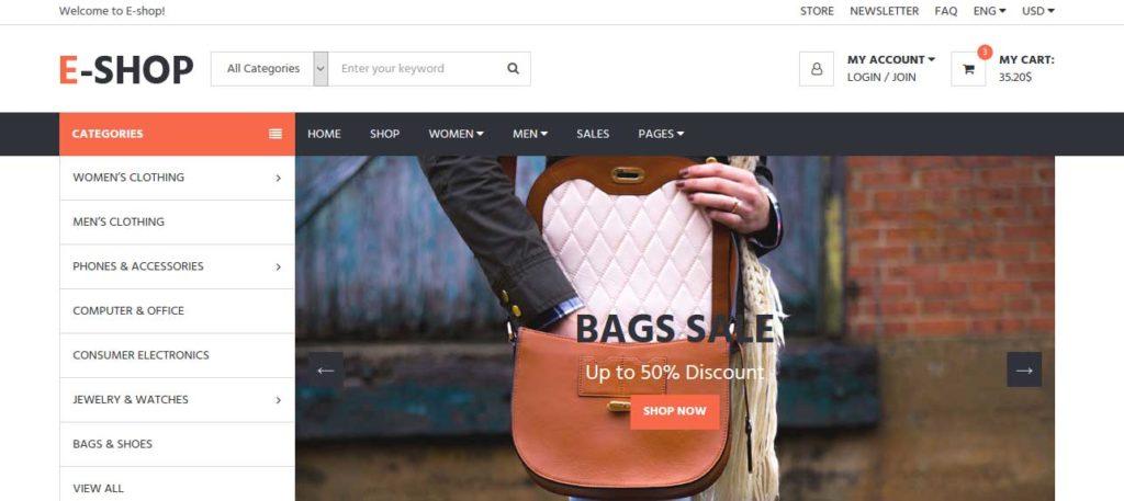 e-shop : thème responsive gratuit ecommerce de mode
