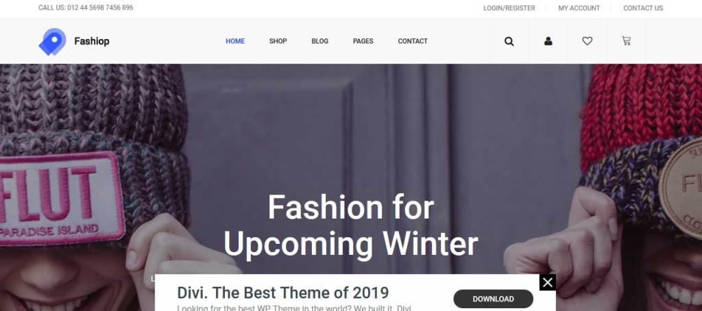 fashiop : thème responsive gratuit ecommerce de mode