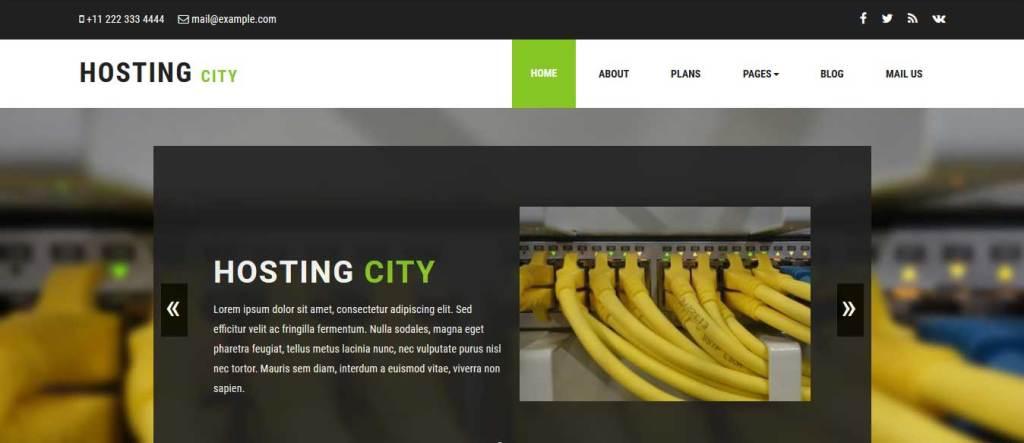 hosting-city : template gratuit responsive pour créer un site d'hébergement