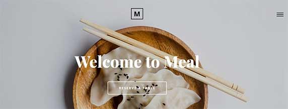 meal : thème responsive gratuit pour site de restaurant