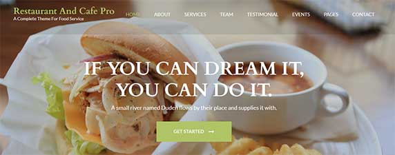 restaurant-cafe : thème responsive gratuit pour site de restaurant