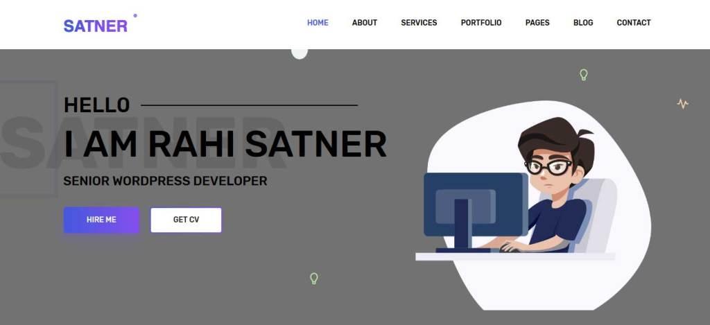 Satner : thèmes responsives gratuits pour freelance