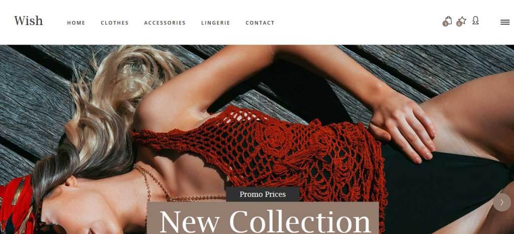 wish : thème responsive gratuit ecommerce de mode