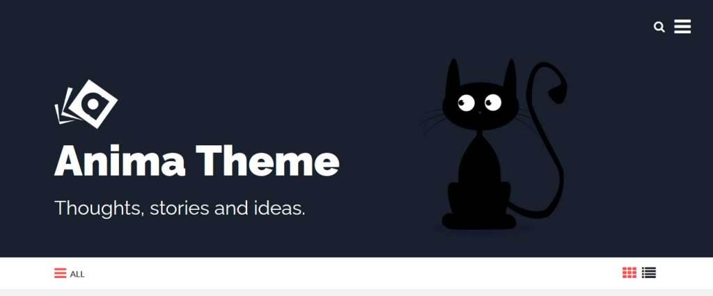 anima : themes pour site d'animaux
