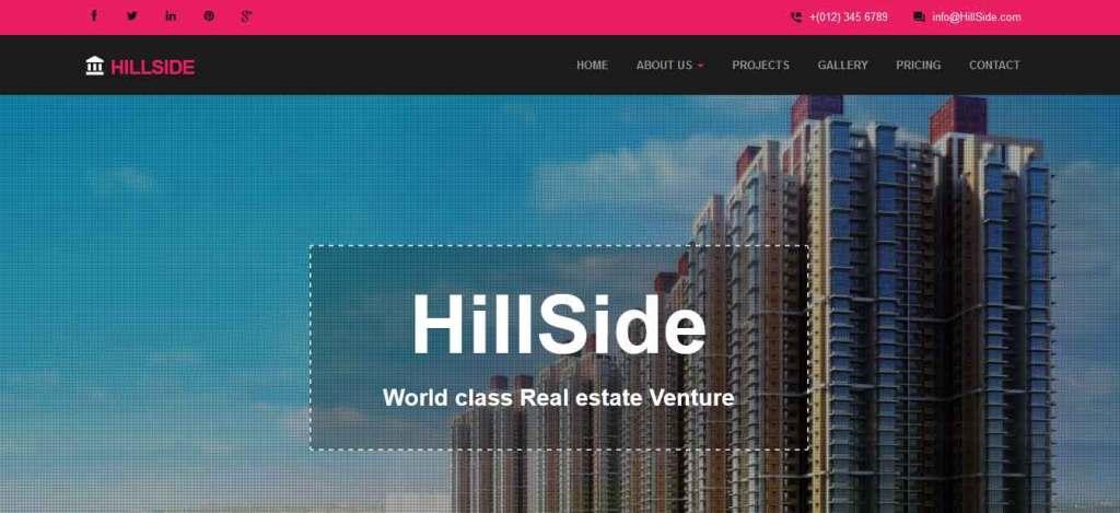 hillside : thème gratuit pour site d'immobilier