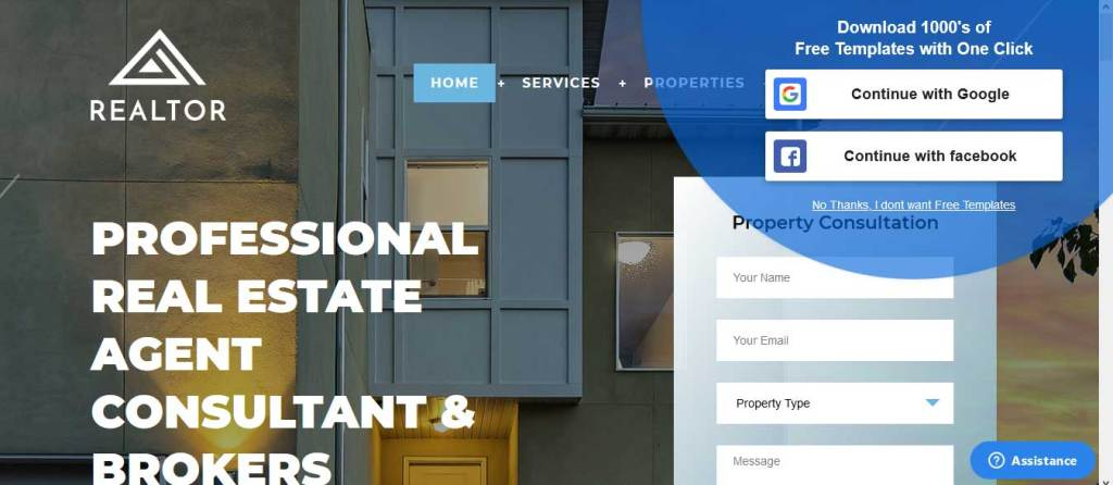 realtor : thème gratuit pour site d'immobilier