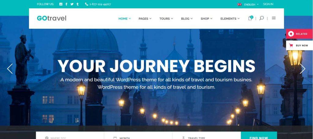 Go Travel : thème premium pour agence de voyage