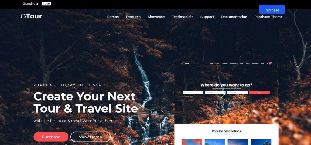 Grand Tour : thème premium pour agence de voyage