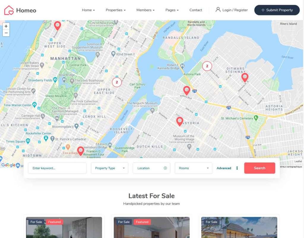 Homéo : Thème wordpress pour site d'immobilier