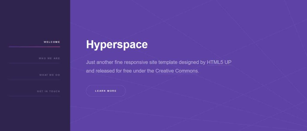 Hyperspace : Thème html css responsive