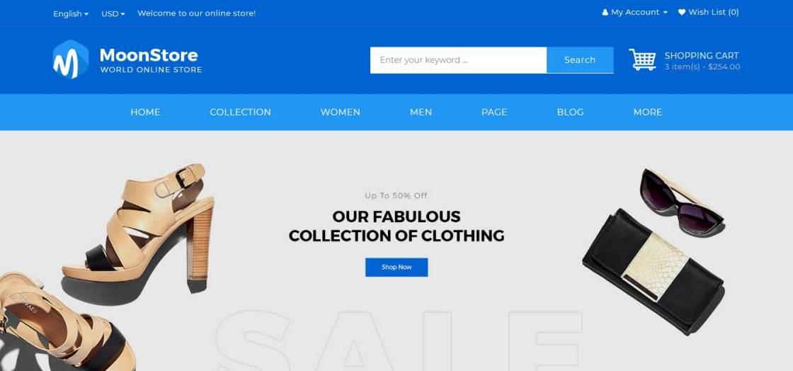 moonstore : thème pour site d'ecommerce