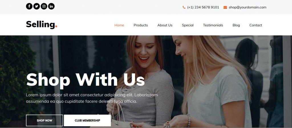 selling : thème pour vente en ligne