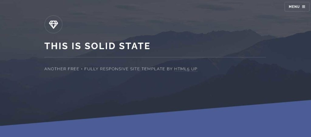 Solid State : Thème html css responsive