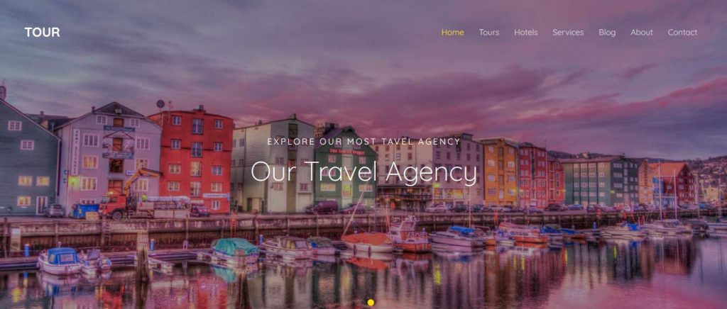 Tour : template bootstrap agence de voyages gratuit