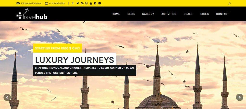 Travelhub : thème premium pour agence de voyage