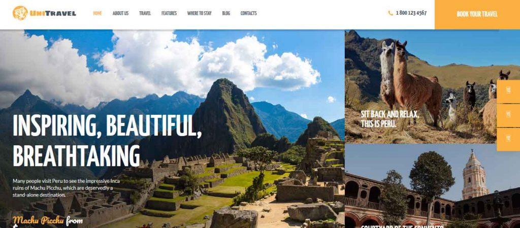 Unitravel : thème premium pour agence de voyages