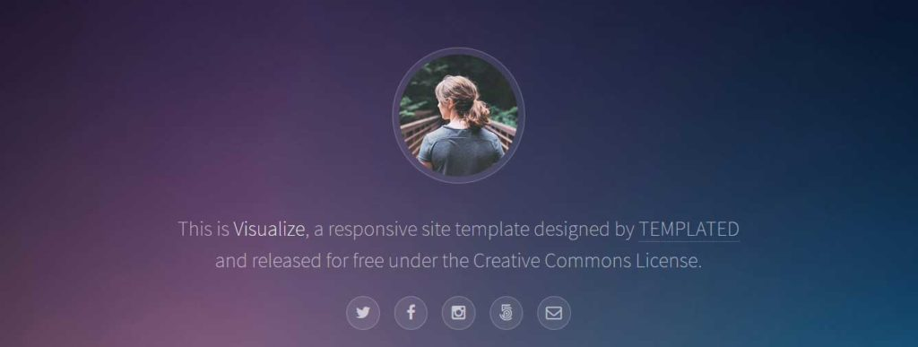 visualize : Thème html css responsive