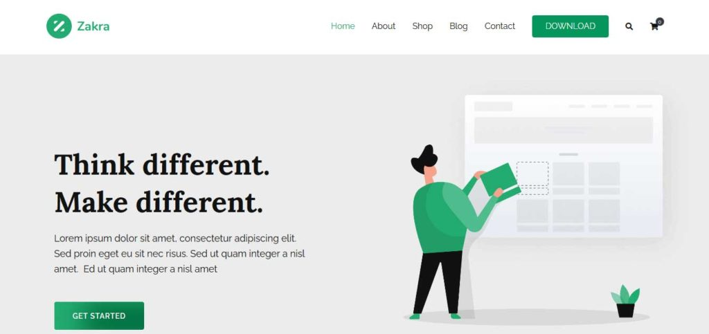 zakra : thème wordpress gratuit