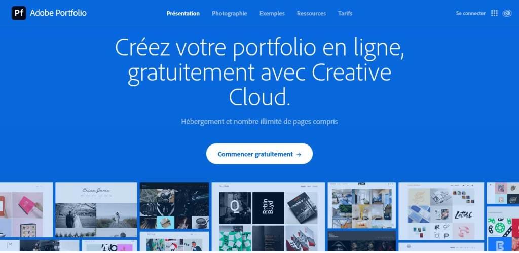 adobe-portfolio : logiciel de conception de site web