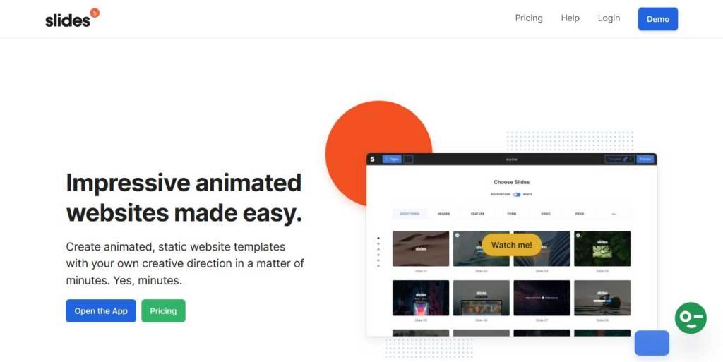 designmodo-slides : constructeur de site web