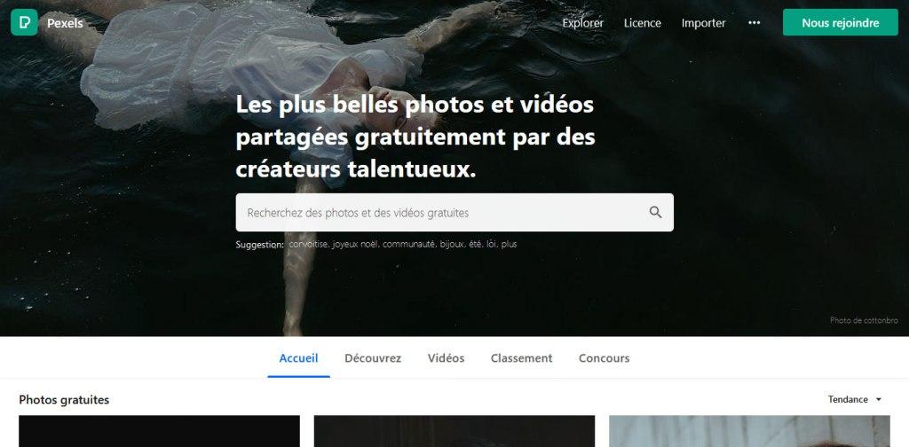 pexels plateforme de téléchargement de photos gratuites