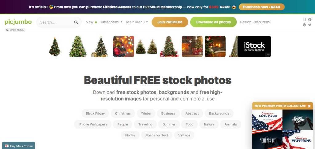 picjumbo site de photos libres de droits