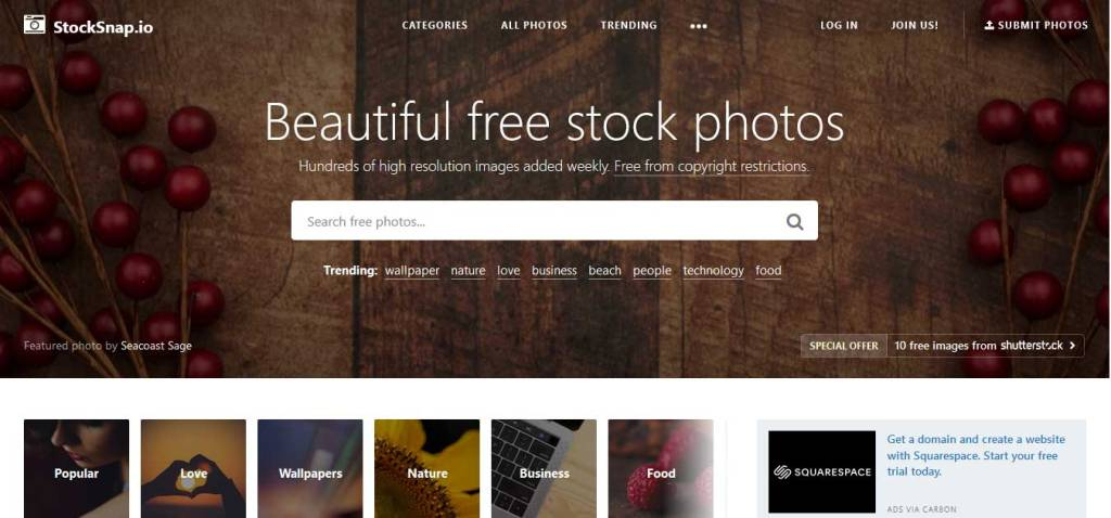 stocksnap : site de photos gratuites