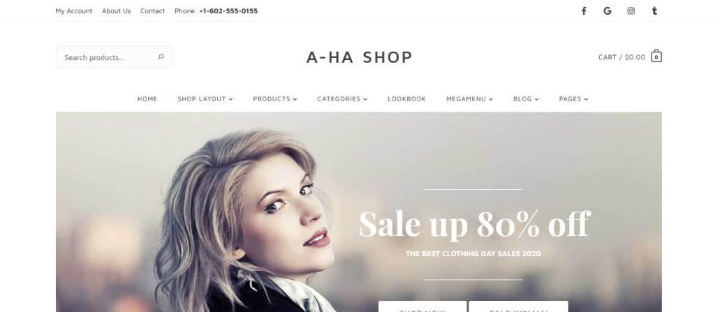 ahashop : thèmes WordPress ecommerce de mode