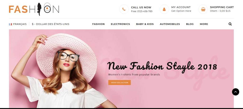 fashion : thème prstashop de mode