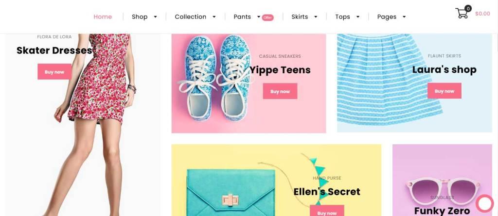 lushboutique : thèmes WordPress ecommerce de mode