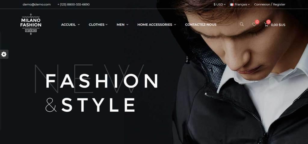 milano : thème prestashop de mode
