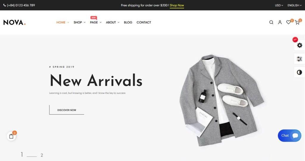 nova : thème prestashop de mode