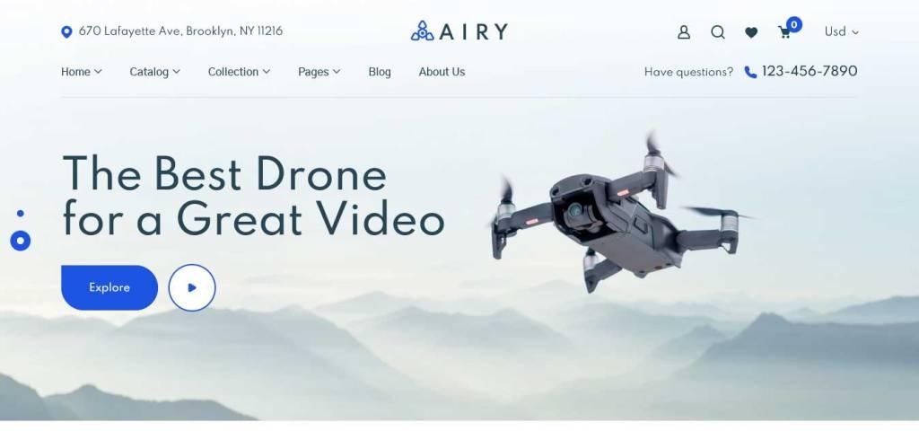 Airy : thème shopify