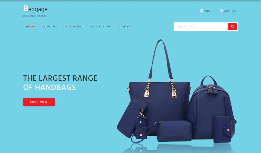 baggage : thème ecommerce gratuit