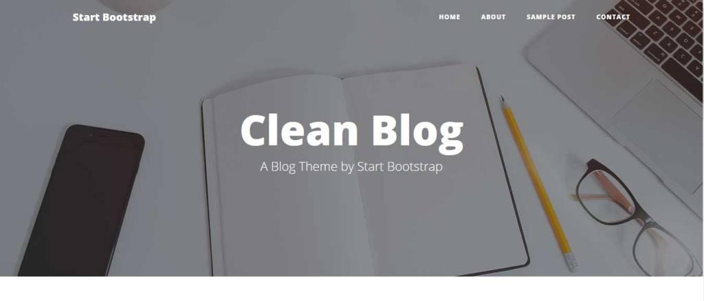 clean blog : thème gratuit bootstrap