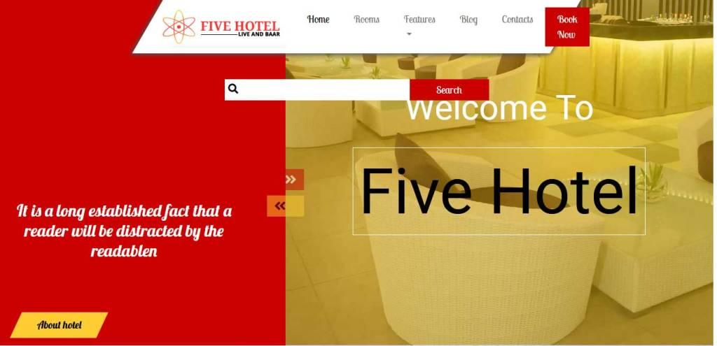 five hotel : template bootstrap agence de voyage gratuit