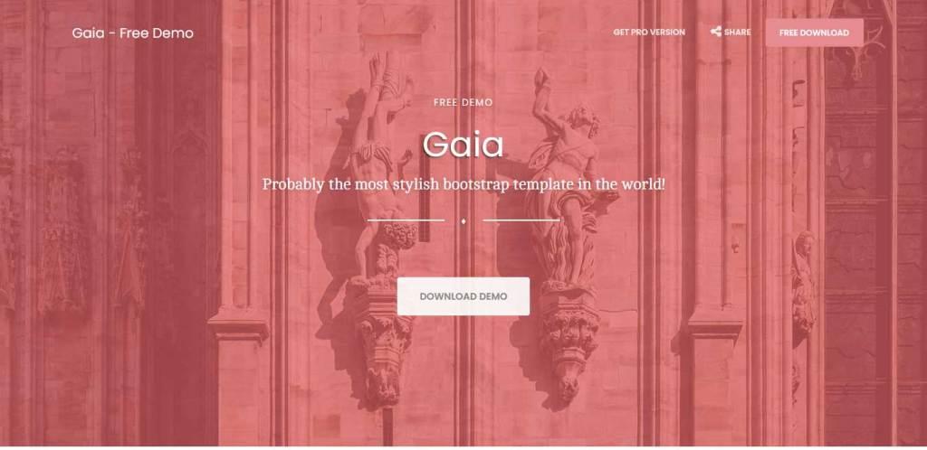 gaia : thème gratuit bootstrap