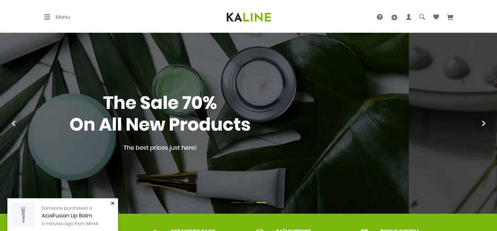 Kaline : thème shopify