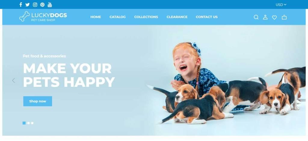 Luckydogs : thème shopify