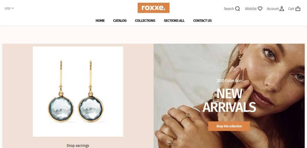 Roxxe : thème shopify