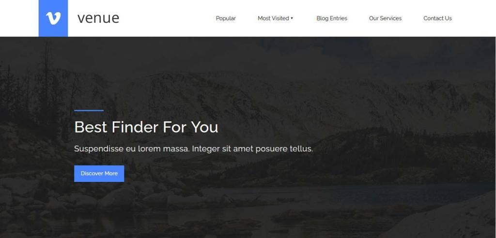 venue : template bootstrap agence de voyage gratuit