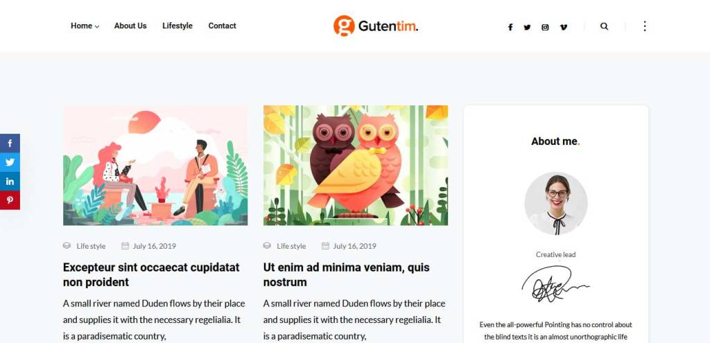gutentin : thème premium wordpress