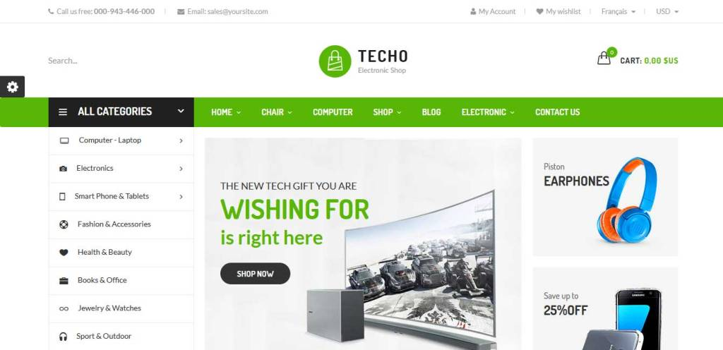 techo : thème premium prestashop