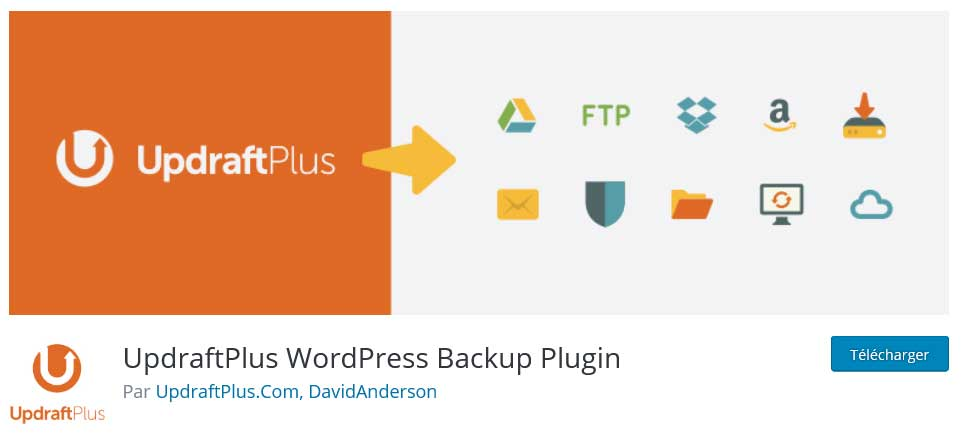 updraftplus : plugins gratuits wordpress